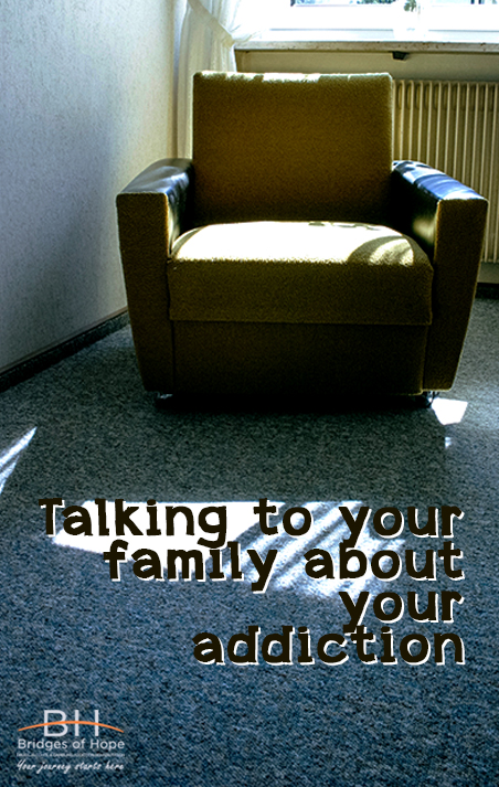 talking to your family about addiction